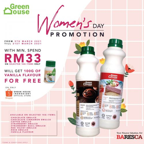 Women's Day Promotion 5th of March 2021 - 21st of March 2021