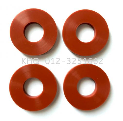 Red Silicone Rubber Washer