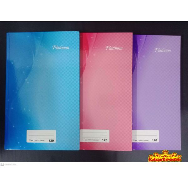 HARD COVER PLATINUM FOOLSCAPBOOK 60 GSM 120 PAGES/200 PAGES Notebook Paper Product Stationery & Craft Johor Bahru (JB), Malaysia Supplier, Suppliers, Supply, Supplies | Edustream Sdn Bhd