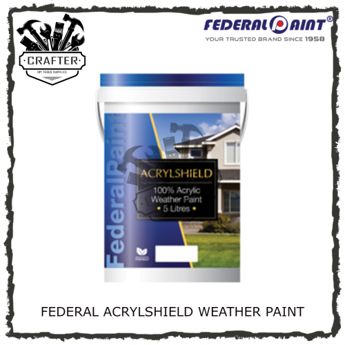 5L FEDERAL ACRYLSHIELD WEATHER PAINT