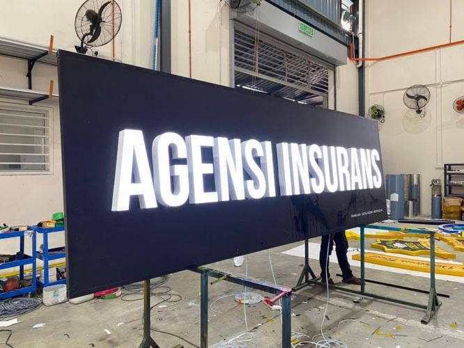 3d Led Signboard At Malaysia