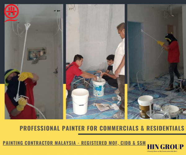 Painter Service's -Get a Reservice If Unsatisfied- Painting Contractor Residentials Renovation Construction Specialize Selangor, Semenyih, Kuala Lumpur (KL), Malaysia Services, Repair, Contractor | Hin Construction Sdn Bhd