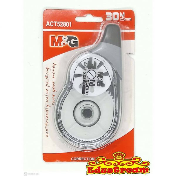 M&G CORRECTION TAPE 30M x5MM ACT52801 Correction Tape/Pen Writing & Correction Stationery & Craft Johor Bahru (JB), Malaysia Supplier, Suppliers, Supply, Supplies | Edustream Sdn Bhd