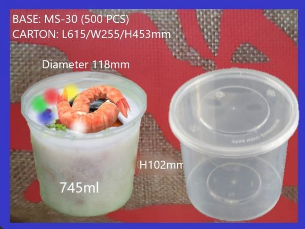 MS-30 BASE ONLY ROUND CONTAINER (500 PCS) ROUND CONTIANER MICROWAVEABLE PLASTIC CONTAINNER Kuala Lumpur (KL), Malaysia, Selangor, Kepong Supplier, Suppliers, Supply, Supplies   RS Peck Trading