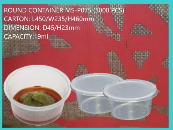 MS-P075 BASE ONLY (5000 PCS) ROUND CONTIANER MICROWAVEABLE PLASTIC CONTAINNER Kuala Lumpur (KL), Malaysia, Selangor, Kepong Supplier, Suppliers, Supply, Supplies | RS Peck Trading