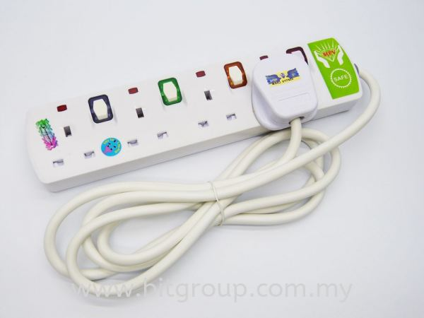 EXTENSION PLUG - 4 GANG Wire Extension Accessories Computer Melaka, Malaysia, Batu Berendam Supplier, Suppliers, Supply, Supplies | BRIGHT IT SALES & SERVICES