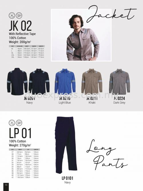 Oren JK02 LP 01 Worker Uniform