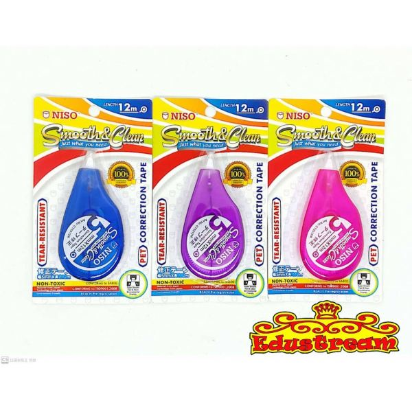 NISO SMOOTH&CLEAN 12M CT5512M Correction Tape Stationery Johor Bahru (JB), Malaysia Supplier, Suppliers, Supply, Supplies | Edustream Sdn Bhd