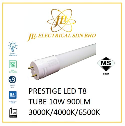 PRESTIGE LED T8 TUBE 10W 900LM 3000K/4000K/6500K