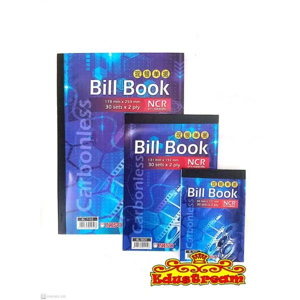 Niso NCR With Numbering Carbonless Bill Book 2PLYx30Set Bill Book School & Office Equipment Stationery & Craft Johor Bahru (JB), Malaysia Supplier, Suppliers, Supply, Supplies | Edustream Sdn Bhd