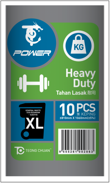 T-POWER GARBAGE BAG HEAVY DUTY (XL) - Per Bundle Plastic Beg Packaging E-Shopping Selangor, Malaysia, Kuala Lumpur (KL), Seri Kembangan Supplier, Suppliers, Supply, Supplies | Willey Max Sdn Bhd