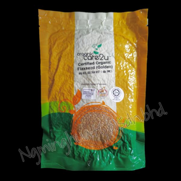 Organic Care2u - Certified Organic Flaxseed (Golden) 200gm Dried Fruit And Nuts Bakery Ingredient Johor Bahru (JB), Malaysia, Larkin, Century Garden Supplier, Suppliers, Supply, Supplies   Ng Ming Huat (JB) Sdn Bhd