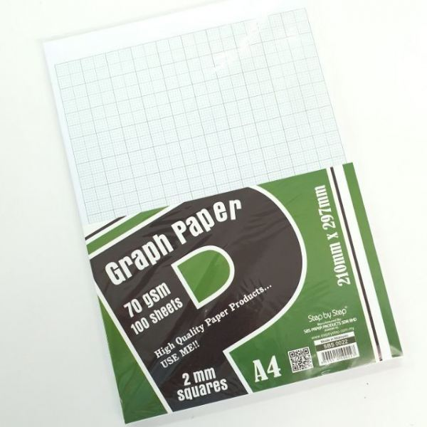 Graph paper 70gsm A4(100sheets) 2mm square SBS0022 Graph Paper Paper Product Selangor, Malaysia, Kuala Lumpur (KL), Semenyih Supplier, Suppliers, Supply, Supplies   V CAN (1999) SDN BHD