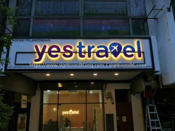 yestravel 3d box up lettering backlit signage signboard at klang kuala lumpur 3D BOX UP LETTERING Kuala Lumpur (KL), Malaysia Supplies, Manufacturer, Design | Great Sign Advertising (M) Sdn Bhd