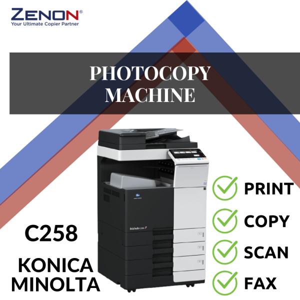 Konica Minolta Bizhub C258 Color Photocopier OFFICE & DESIGNER USED Selangor, Malaysia, Kuala Lumpur (KL), Seri Kembangan Copier, Rental, Supplier | ZENON COPIER SDN BHD