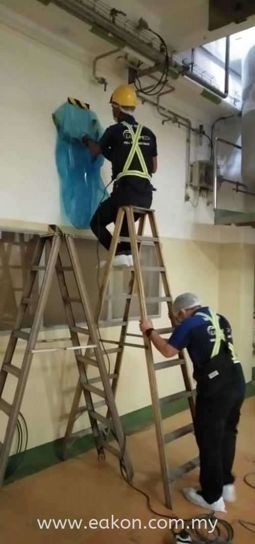 Install of 2 hp ceiling exposed at Petaling Dairy (M) Sdn Bhd