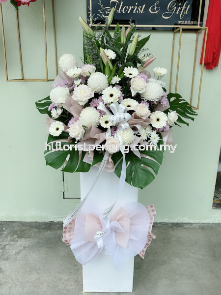 FS048 Funeral Stand Penang, Butterworth, Malaysia Supplier, Suppliers, Supply, Supplies   HL Florist & Gift