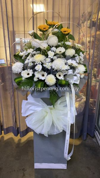FS057 Funeral Stand Penang, Butterworth, Malaysia Supplier, Suppliers, Supply, Supplies | HL Florist & Gift