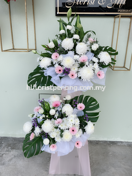 FS059 Funeral Stand Penang, Butterworth, Malaysia Supplier, Suppliers, Supply, Supplies | HL Florist & Gift