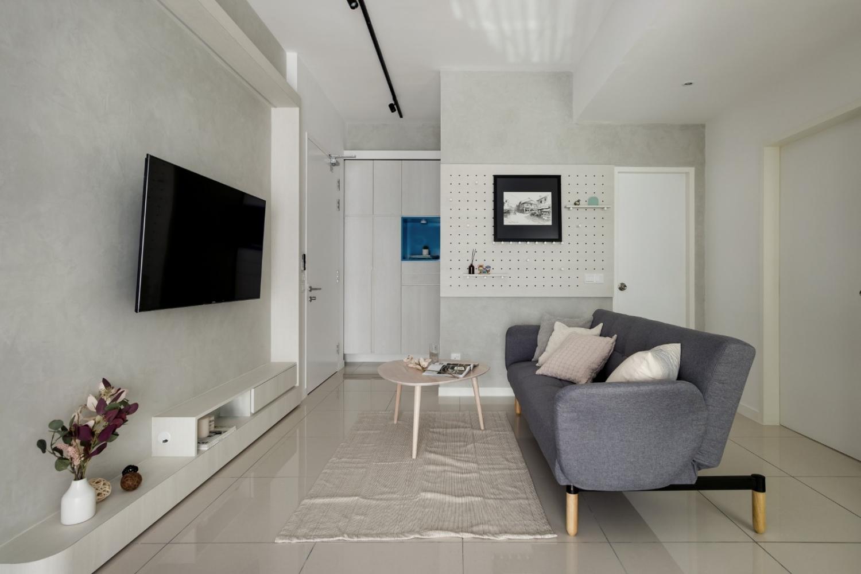 Studio - Living, TV Feature, Scandi Industrial