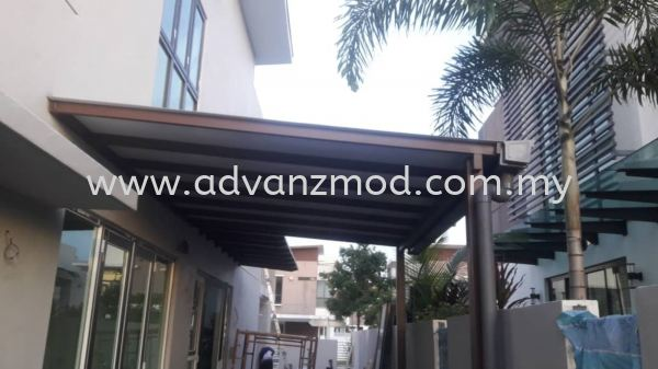 Mild Steel Roofing Cover With Aluminium Composite Panels Roofing & Awning  Selangor, Malaysia, Kuala Lumpur (KL), Puchong Supplier, Supply, Supplies, Retailer | Advanz Mod Trading