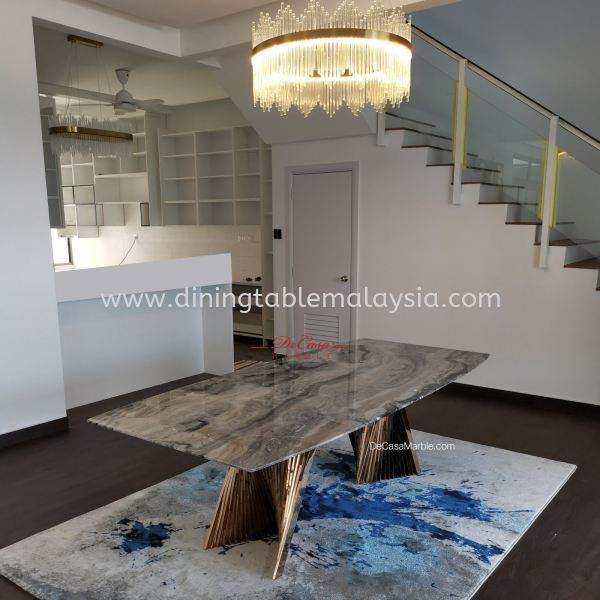 Luxury Italian Marble Dining Table | 8-10 Seaters Marble Dining Table Malaysia, KL Manufacturer, Exporter | DeCasa Marble Sdn Bhd
