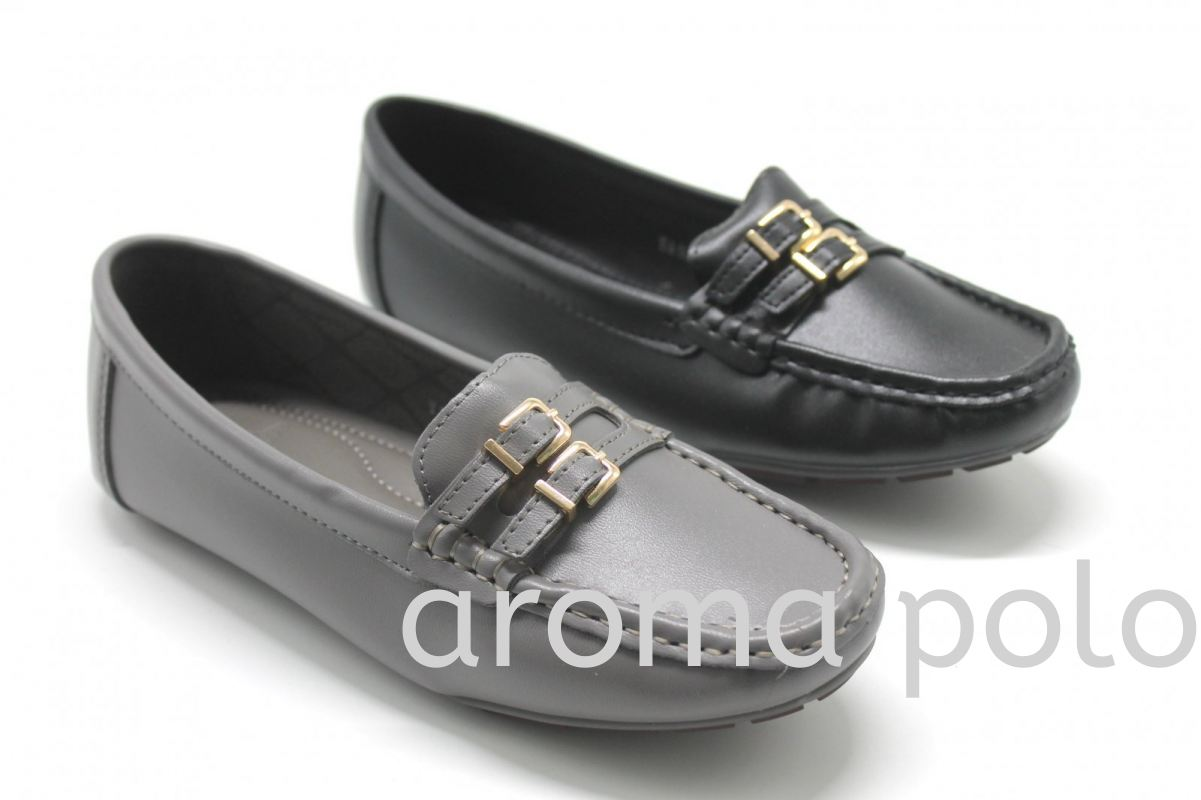 (Aroma Polo) Ladies Slip On Loafers Shoes - AP068