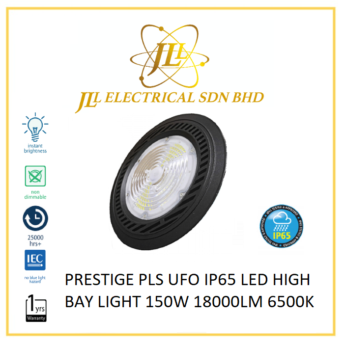 PRESTIGE PLS UFO IP65 LED HIGH BAY LIGHT 150W 18000LM 6500K