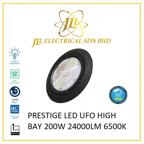 PRESTIGE PLS UFO IP65 LED HIGH BAY LIGHT 200W 24000LM 6500K