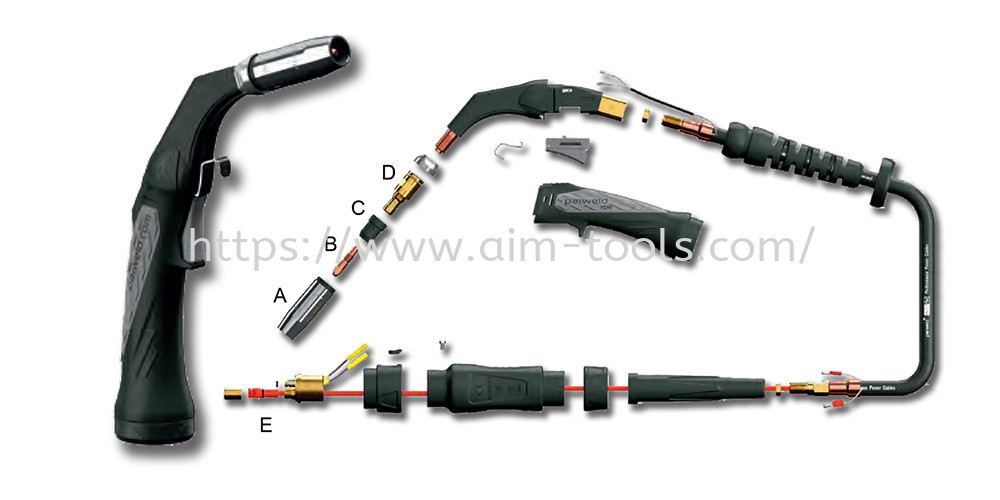 """MIG - 200A, 6kW, Mixed Gas (80/20) @ 80% Duty Cycle, .023""""(0.6mm)  .045""""(1.2mm) Wires"""