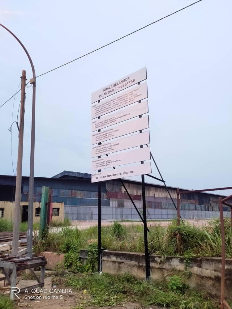Signboard At Selangor