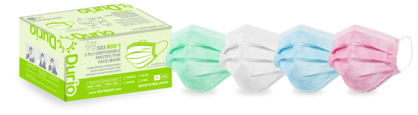 Durio 503 Kid¡¯s 3 Ply Disposable Protective Face Mask 3 Ply Surgical Face Mask Malaysia, Johor Bahru (JB) Manufacturer, Supplier, Supply, Supplies | Durio PPE Sdn Bhd