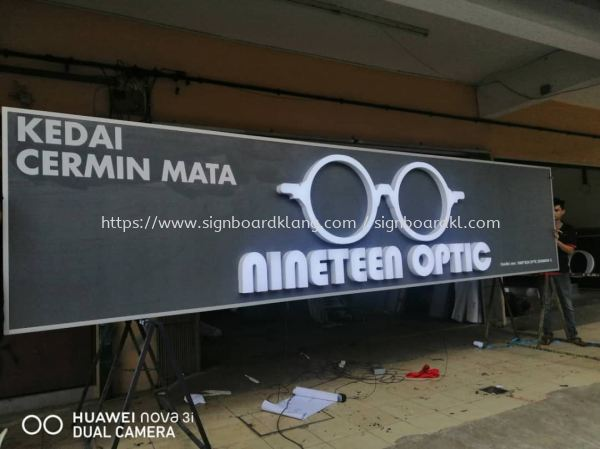 nineteen optic 3D Led Frontlit Lettering Signage Signboard At Klang Kuala Lumpur  3D BOX UP LETTERING Klang, Malaysia Supplier, Supply, Manufacturer | Great Sign Advertising (M) Sdn Bhd