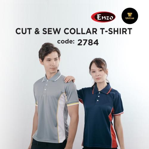 Unisex T-shirt Collar | Plain Collar T-shirt |  Polo T-shirt | Adult / Unisex 2784 Cut & Sew Collar T-shirt