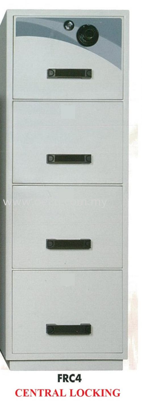 FALCON 4 Drawer Fire Resistant Filing Cabinet (FRC4 - Central Locking)_390kg