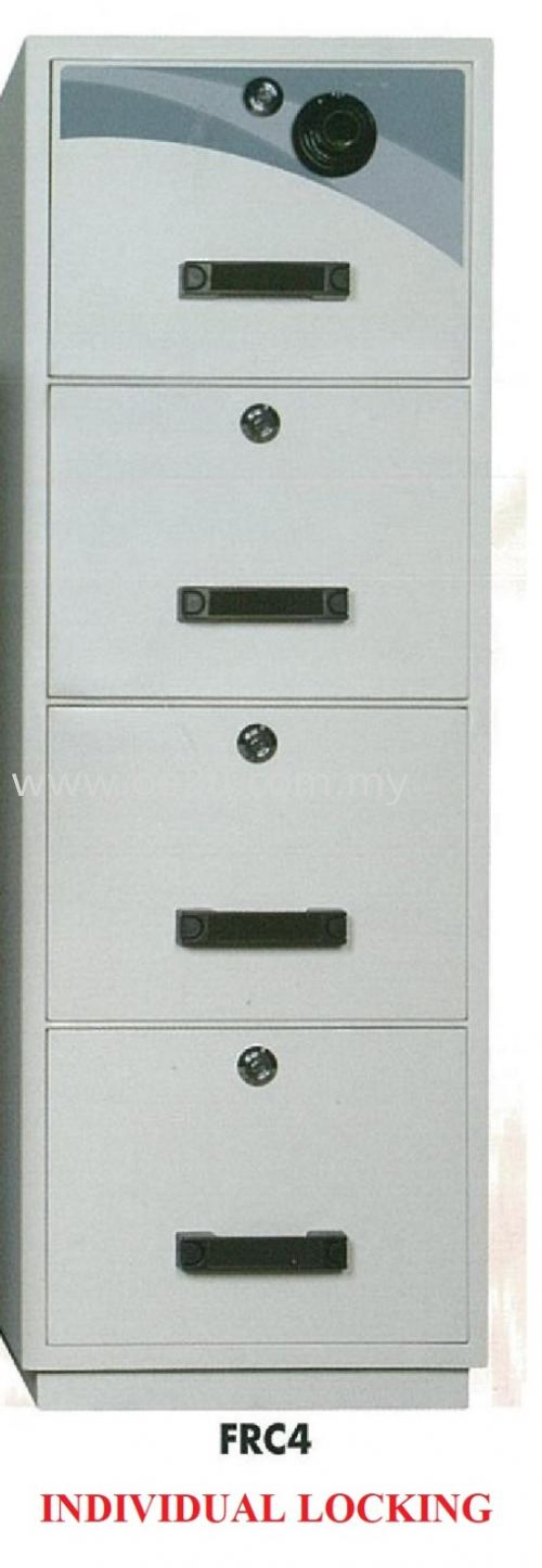 FALCON 4 Drawer Fire Resistant Filing Cabinet (FRC4 - Individual Locking)_390kg