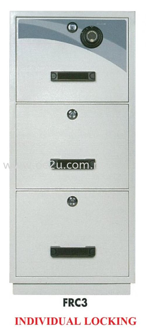 FALCON 3 Drawer Fire Resistant Filing Cabinet (FRC3 - Individual Locking)_290kg