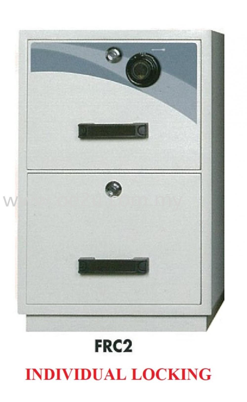 FALCON 2 Drawer Fire Resistant Filing Cabinet (FRC2 - Individual Locking)_195kg