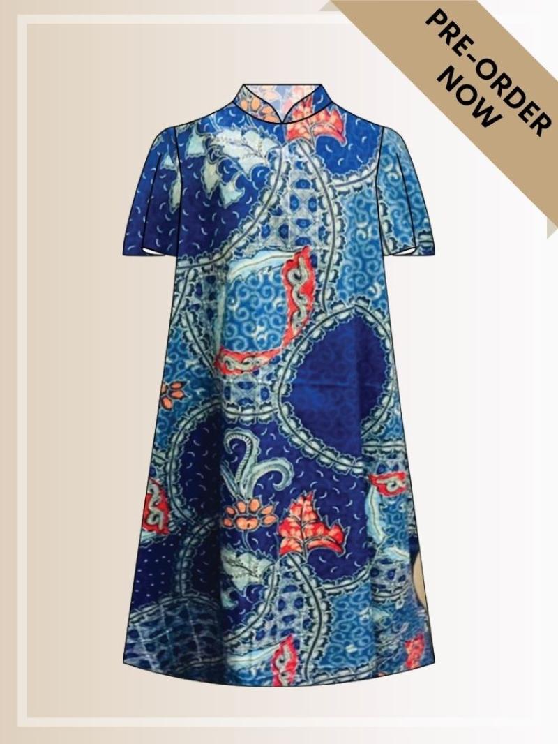 BTK(D)092 Batik A Line Midi Dress