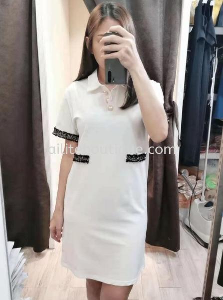 小香风法式复古设计全棉连身裙OK 裙子    | Ailite Boutique