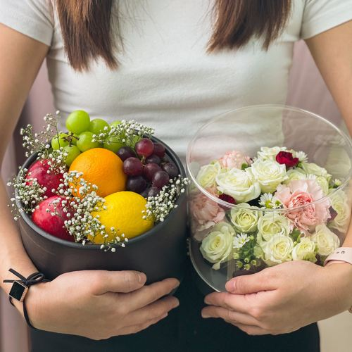 Double Happiness - Flowers & Fruits Box (2 days pre order)