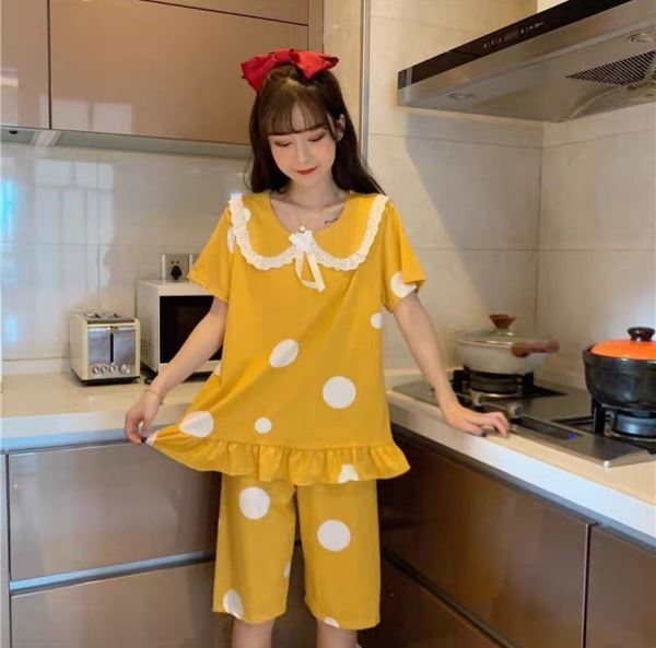 Japanese Kawaii Style doll collar Pyjamas Set Women Cropped Pants Pyjamas Set Women Sleepwear Pyjamas Johor, Malaysia, Batu Pahat Supplier, Wholesaler, Supply, Supplies | Sexy Accessories Trading