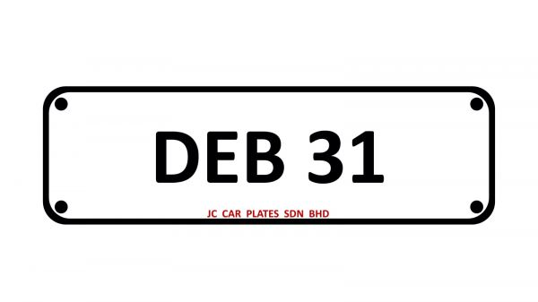 DEB 31 SPECIAL NUMBER 2 DIGIT Kuala Lumpur (KL), Malaysia, Selangor Dealer, Supplier, Supply, Supplies | JC Car Plates Sdn Bhd