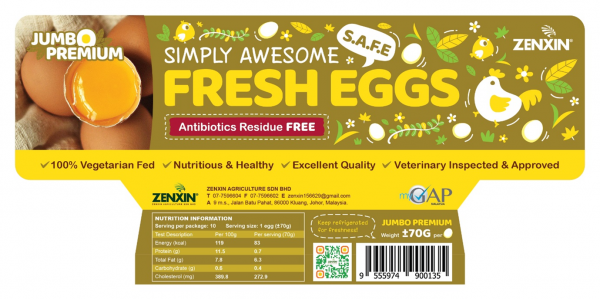 Jumbo Premium Simply Awesome Fresh Eggs Premium Egg Products Johor, Malaysia, Kluang Supplier, Suppliers, Supply, Supplies | Zenxin Agriculture Sdn. Bhd.