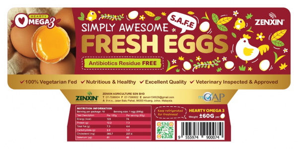 Hearty Omega 3 Simply Awesome Fresh Eggs Premium Egg Products Johor, Malaysia, Kluang Supplier, Suppliers, Supply, Supplies   Zenxin Agriculture Sdn. Bhd.
