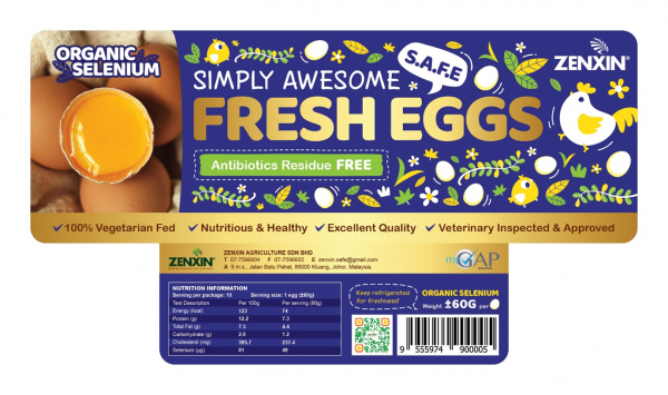 Organic Selenium Simply Awesome Fresh Eggs Premium Egg Products Johor, Malaysia, Kluang Supplier, Suppliers, Supply, Supplies   Zenxin Agriculture Sdn. Bhd.