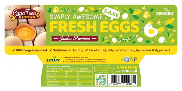 Cage Free Simply Awesome Fresh Eggs Premium Egg Products Johor, Malaysia, Kluang Supplier, Suppliers, Supply, Supplies   Zenxin Agriculture Sdn. Bhd.