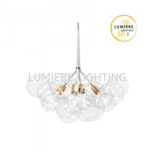 Nordic Post Modern Creative Clearn Bubble Glass Pendant Light