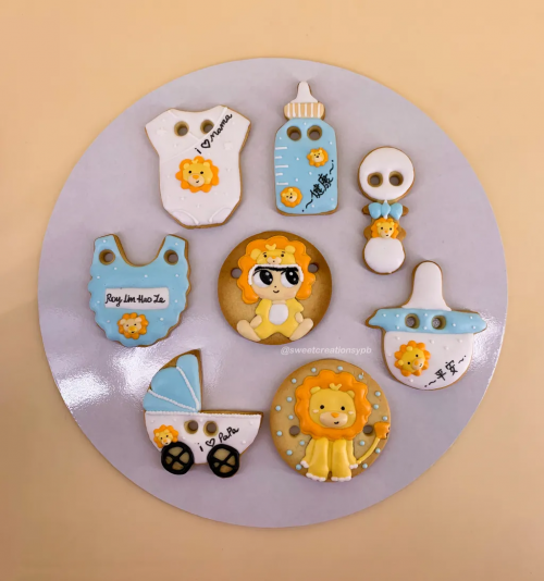 Baby Lion Theme - Royal Icing Cookies