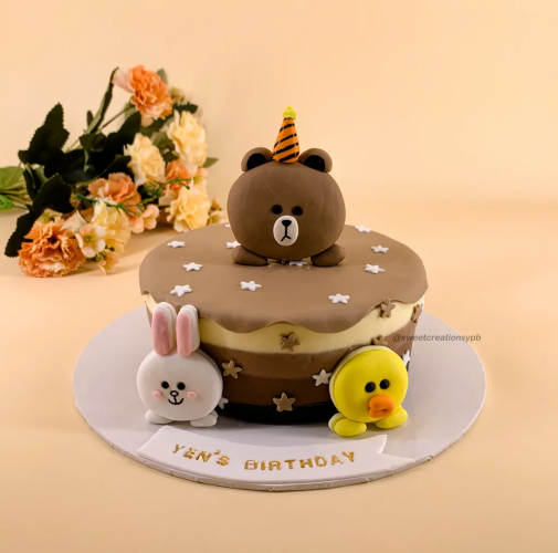 Line Friends - Triple Chocolate Cheese Cake (Chilled)